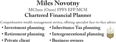 Miles Novotny, Chartered Financial Planner